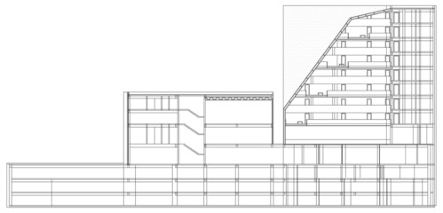 Modern Hotel Building Architectural Blueprint