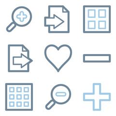 Image viewer icons, blue line contour series