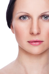 Beautiful face of woman with clean fresh skin