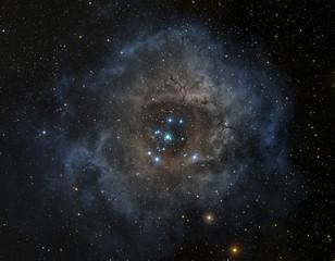 Rosette nebula in the constellation of Unicorn