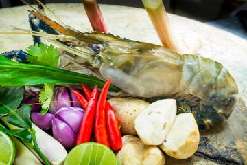 Shrimp with herb fresh