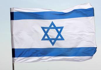 blue and white Israeli flag