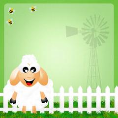 illustration of sheep