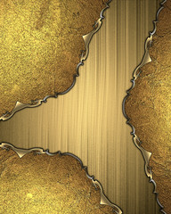 Golden background with grunge edges. Template for design