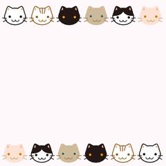 猫 イラスト フレーム