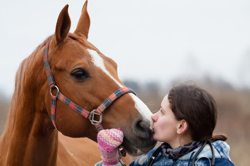 Vet and horse