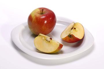 Teller mit Äpfel