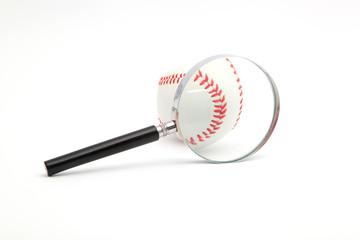 lens and a baseball
