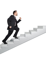 business man and stairs