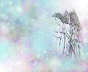 Guardian Angel on Bokeh background