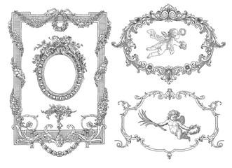 Old frame illustration