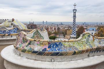 Barcelona, Altstadt, Park, Herbsttag, Ausblick, Spanien