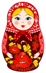 Matryoshka Doll in Red