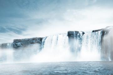 Deurstickers Watervallen Waterfall