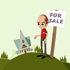 Home for sale illustration set