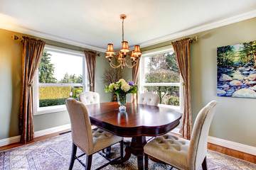 Old-fashined design of a dining room