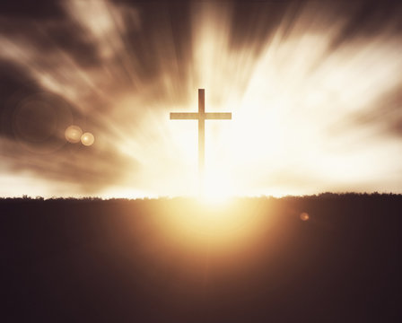 Cross at sunset.
