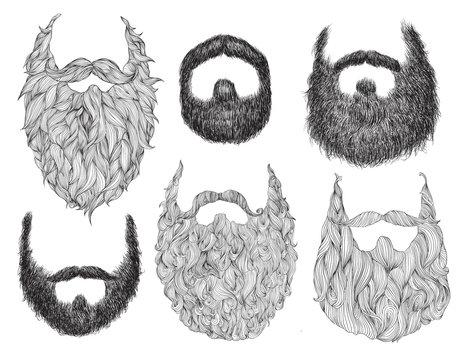 Hand Drawn Beard Set