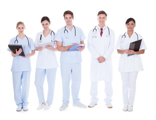 Group Of Doctors And Nurses