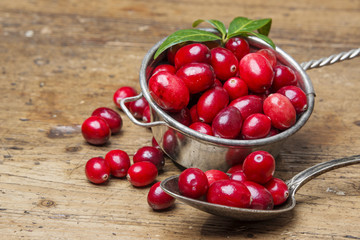 cranberries on a kitchen table