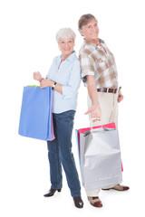 Senior Couple With Shopping Bag