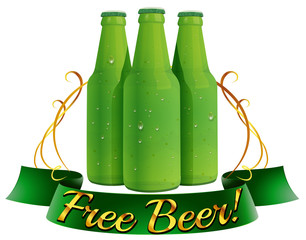 Free beer label