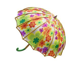 3D Umbrella with Floral Texture