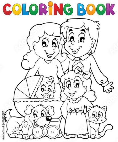 Раскраски для детей с изображением семьи