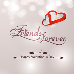 Beautiful friends forever for happy valentine's day heart stylis