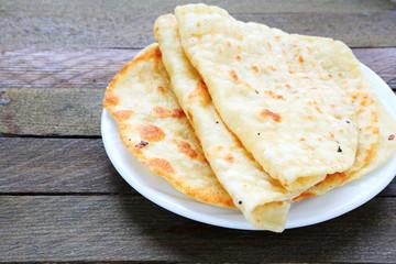 pita bread on a plate