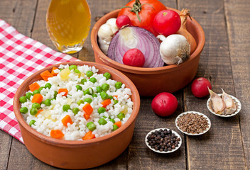 rice with peas and vegetable