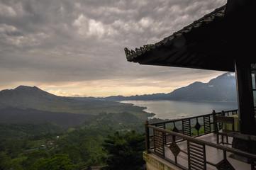 Landscape Batur volcano on Bali island, Indonesia