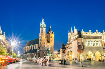 Rynek Glowny - The main square of Krakow in Poland