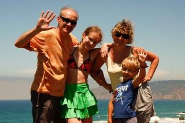 Obraz Rodzina na wakacjach - fototapety do salonu