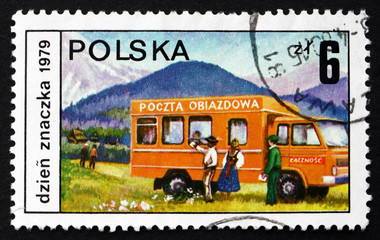 Postage stamp Poland 1979 Mobile Post Office