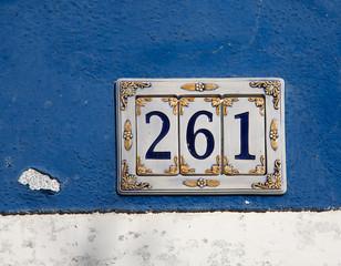 decorated ceramics house number sign