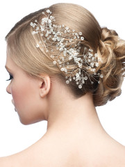 Hairstyle with hair accessory