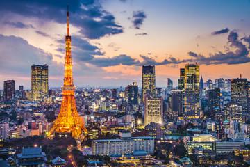 Photo on textile frame Tokyo Tokyo, Japan at Tokyo Tower
