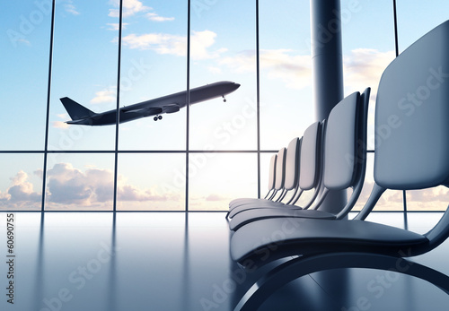 Fotobehang futuristic airport