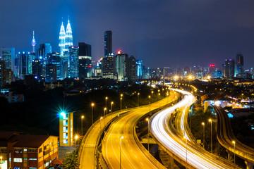 Wall Murals Kuala Lumpur Kuala Lumpur at night
