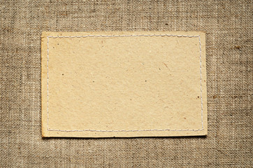 Paper card on canvas background
