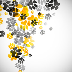 abstract background, animal footprints