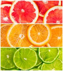 Collage of citrus-fruit