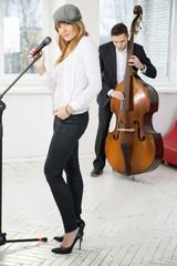 Pair of musicians present single at studio