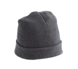 Woolen hat isolated on white background
