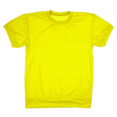 Yellow blank t-shirt (Clipping path)