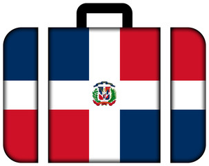 Suitcase with Dominican Republic Flag