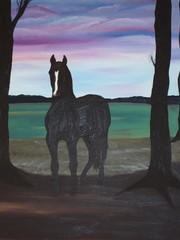 Fototapete - Gemälde eines Pferdes