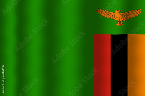 Waving Zambia Flag