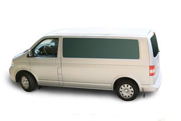minibus isolated